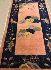 AN ATTRACTIVE ART DECO CHINESE RUG