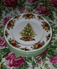 Royal Albert Old Country Roses 8 Salad Accents Plates Christmas