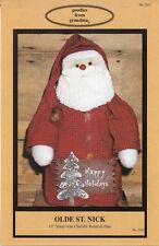 """©1999 Uncut Goodies from Grandma Dollmaking Pattern # 203J """"Olde St. Nick"""" Santa"""