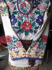 Ukrainian vintage embroidered blouse, M-L, handiwork, Bukovina region