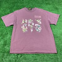 Robert Allan Size Large Women's Maroon Durango Colorado Hummingbird T Shirt Vtg