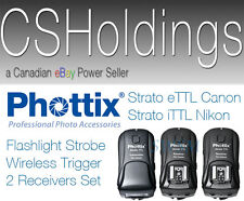Phottix Strato iTTL i-TTL Nikon D4x D5 D810a Wireless Trigger 2 Receivers Kit