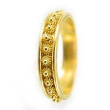 Anello filigrana Fede sarda in oro giallo nido d'ape  Sardinian fide gold ring