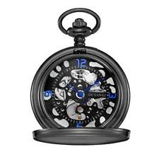 Black Case & Matching Face Wind Up Pocket Watch Fob