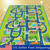 Portable Baby Kid Toddler Crawl Blanket Play Game Picnic Carpet Car Traffic o S