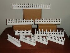 WHITE Wood PICKET FENCE SECTIONS for G Scale Train & Christmas Displays - Lemax