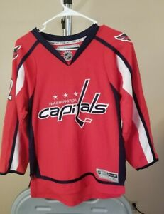 Washington Capitals NHL Reebok Classic Red Mike Green #52 Youth Large/XL Jersey