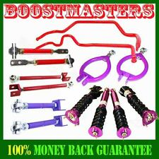 Fits 89-94 240SX S13 NON-ADJ Damper Coilover,Camber Kits,Tension Rod &Swaybar