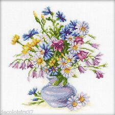 RTO  M255  Vase de Fleurs  Broderie Point de Croix Compté