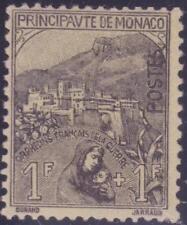 """MONACO N°32 """"ORPHELIN 1F+1F NOIR ET JAUNE"""" NEUF xx TTB"""