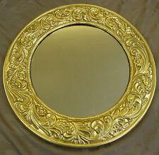 Wand Spiegel Ø 57 cm RUND Deko SPIEGEL Art Deco-Stil Rahmen in GOLD  NEUWARE