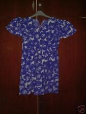 Hand made Short Sleeve Vintage 70s Style V Neck Dress