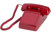 "Red Corded No Dial Telephone With Data Port ""New"""