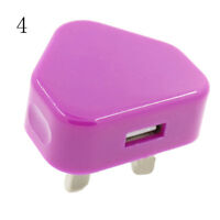 UK Plug Mains Wall 3 Pin USB Power Adaptor Charger For Mobile Phone Tablet ST
