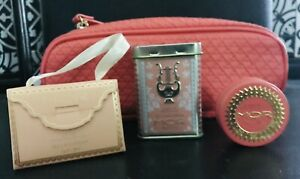 MOR BELLADONNA LIP SILK, Soapette In Deco Tin,lip Macron+make Up Pouch,
