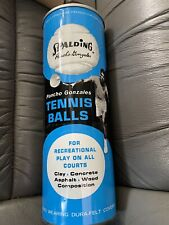 A.G.Spalding Pancho Gonzales 1970's Unopened Can Tennis Balls Vintage