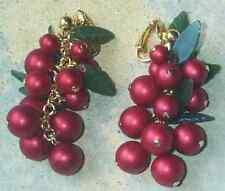 Orecchini di bigiotteria rosso metalli misti