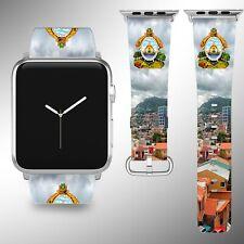 Honduras Coat of Arms Apple Watch Band 38 40 42 44 mm Series 1 - 5 Wrist Strap