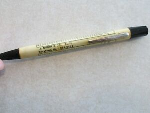 P67A Advertising Mechanical Pencil J Rubin Co Rockford IL Steel Illinois