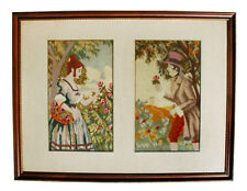 Vintage Needlepoint and Petitpoint, Man and Woman