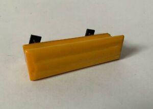1x Vintage Retro Orange/Yellow Plastic Screw In Door Knob Pull Handle #1616