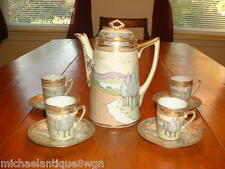 Gorgeous Antique Nippon Hand Painted Tea /Coffee / Chocolate Set