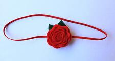 Christmas Felt Flower Headband, Baby Headband, Newborn Headband, Handmade