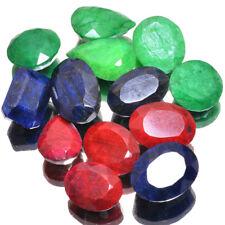 876 Ct/13 Pcs Top Natural Rubies Emeralds & Sapphires Wholesale Gemstones Lot