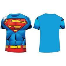 Licencia Oficial Dc Comic Superman Niño Azul Camiseta manga corta Edad 3-8 AÑOS