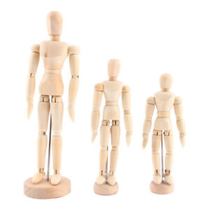 Art Class Wooden Figure Male Manikin Mannequin Wood Movable Model Display Crafts