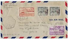 SPAIN 1940s FERNANDO PO AIR MAIL BATA WEST AFRICA GULF OF GUINEA SPANISH TERRITO