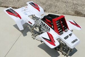 Yamaha Banshee fenders + gas tank plastic + grill + graphics WHITE & RED 2000