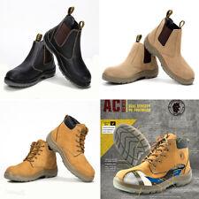 ROCKROOSTER Safety Work Boots Steel Toe Cap Elastic Sided Waterproof Leather Men