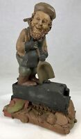 "Tom Clark Gnome Stokes with Coal Car #1132 Edition #20 7.25"" Cairn Studios"