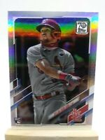 2021 TOPPS SERIES 1 DYLAN CARLSON RC ROOKIE RAINBOW FOIL SILVER PARALLEL #285