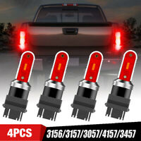 4PC Red 3157 LED Light Bulbs Brake Tail Stop 3156 3057 3457 Parking For Ford RAM