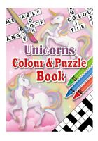 6 Unicorn Colour & Puzzle Books - Pinata Toy Loot/Party Bag Fillers Wedding/Kids