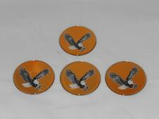 4 Gold Eagle Bird Wheel Rim Center Cap Round Sticker Logo 275 70mm Diameter