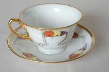 Unboxed Continental Date-Lined Ceramic Cups & Saucers