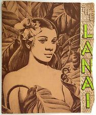 1960's TIKI Vintage Menu THE LANAI Restaurant Villa Chartier Hotel San Mateo CA