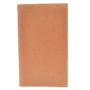 HERMES Couchevel Leather Agenda Organizer Planner Notebook Cover Case Gold