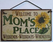 Mom s Sign Place Sunflower Welcome Home House Door Mother Day Gift Flower Decor