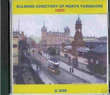 GENEALOGY DIRECTORY OF NORTH YORKSHIRE 1890 CD ROM
