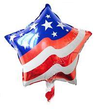 10 X motif drapeau américain aluminium Ballons 42cm 43.2cm en forme d'Etoile