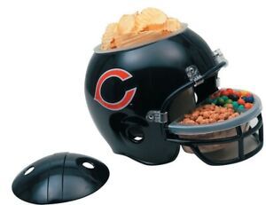 CHICAGO BEARS SNACK HELMET W/LID Chips, Dip, Candy, Ice Etc.