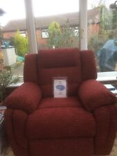 NEW LAZY BOY LUXURY POWER LIFT RECLINER - COLOUR - TERRACOTTA