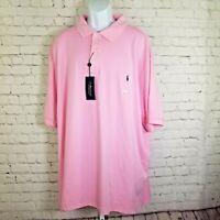 Polo Ralph Lauren Mens Shirt NWT $98 Pink Classic RL Big Tall 4XB Short Sleeve