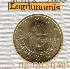 Vatican 2009 50 Centimes D'Euro BU FDC 91 400 exemplaires Provenant du BU RARE
