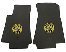 2011-2019 Dodge Charger Lloyd Velourtex Front Floor Mats Ebony Super Bee Logo