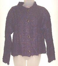 Women's  medium purple multi-color sweater (one step up)
